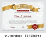 certificate of recognition.... | Shutterstock .eps vector #584656966