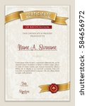 certificate of recognition.... | Shutterstock .eps vector #584656972