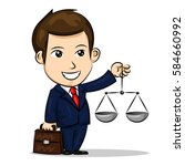 judge with a briefcase and... | Shutterstock .eps vector #584660992