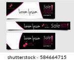 set of abstract banner design   Shutterstock .eps vector #584664715