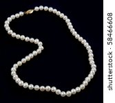 Pearl Necklace Against A Dark...