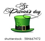 st. patrick's day hat... | Shutterstock .eps vector #584667472