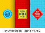 super sale label tag. bright... | Shutterstock .eps vector #584674762