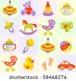 seamless baby background | Shutterstock .eps vector #58468276