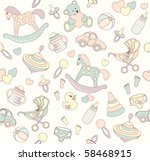 Stock vector seamless baby background 58468915