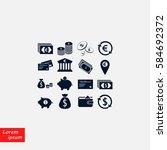 finance icons vector  flat... | Shutterstock .eps vector #584692372