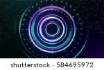 space concept for digital... | Shutterstock . vector #584695972