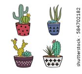 vector set with colorful... | Shutterstock .eps vector #584702182