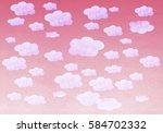 hand painted watercolor purple... | Shutterstock . vector #584702332