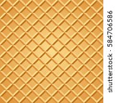 waffle seamless pattern. baked... | Shutterstock .eps vector #584706586