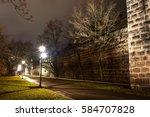 city in the evening light of... | Shutterstock . vector #584707828