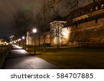 city in the evening light of... | Shutterstock . vector #584707885