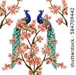 beautiful vector illustration... | Shutterstock .eps vector #584709442