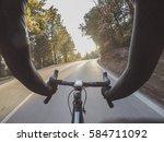 enjoying a warm sunny day on... | Shutterstock . vector #584711092