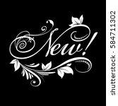 new   calligraphic vintage...   Shutterstock .eps vector #584711302