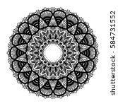 mandala for coloring book.... | Shutterstock .eps vector #584731552