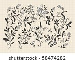 hand draw flower | Shutterstock .eps vector #58474282