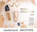 colorstay make up in elegant... | Shutterstock .eps vector #584747596