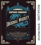old  label design for whiskey | Shutterstock .eps vector #584749246
