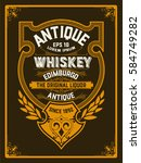 art deco whiskey label | Shutterstock .eps vector #584749282