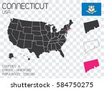a united states of america... | Shutterstock . vector #584750275