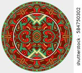 ethnic circle reminiscent of... | Shutterstock .eps vector #584750302