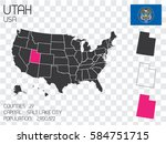a united states of america... | Shutterstock . vector #584751715