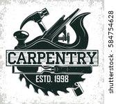 vintage woodworking logo design ...   Shutterstock .eps vector #584754628