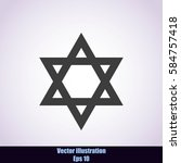 star david icon | Shutterstock .eps vector #584757418