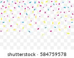 many falling colorful tiny...   Shutterstock .eps vector #584759578