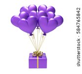 3d Illustration Purple Gift And ...