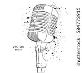 the image of the microphone....   Shutterstock .eps vector #584773915