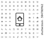 home on phone display icon...