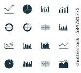 set of graphs  diagrams and... | Shutterstock .eps vector #584781772
