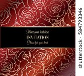abstract background with roses  ...   Shutterstock .eps vector #584793346