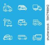 van icons set. set of 9 van... | Shutterstock .eps vector #584798842
