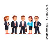 group of five business people... | Shutterstock .eps vector #584802076