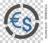 currency diagram icon. vector... | Shutterstock .eps vector #584803612