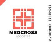 medic cross icon  pharmacy logo ... | Shutterstock .eps vector #584804056
