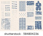hand drawn textures. hipster... | Shutterstock . vector #584804236