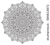 mandala background   vintage... | Shutterstock .eps vector #584813872