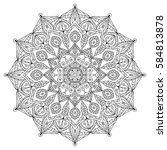 mandala background   vintage... | Shutterstock .eps vector #584813878