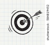 arrow hit in archery target ... | Shutterstock .eps vector #584819452