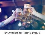 craft beer booze brew alcohol... | Shutterstock . vector #584819878
