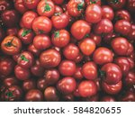 red ripe tomatoes background | Shutterstock . vector #584820655
