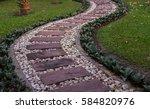 landscaping in the green garden....   Shutterstock . vector #584820976