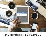 apply voucher code starting... | Shutterstock . vector #584829682