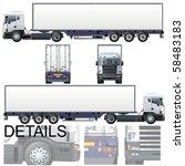 vector cargo truck   original... | Shutterstock .eps vector #58483183