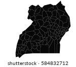 vector map uganda country on... | Shutterstock .eps vector #584832712
