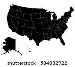 vector usa map on white... | Shutterstock .eps vector #584832922